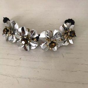 Jcrew white flower bracelet