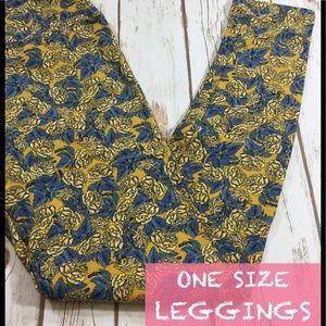 Yellow rose Lularoe One size leggings