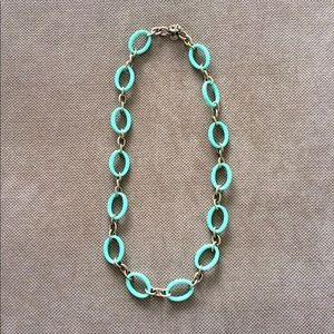 J Crew Turquoise and Gold Necklace
