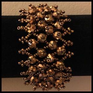 Bronze Beaded Bracelet