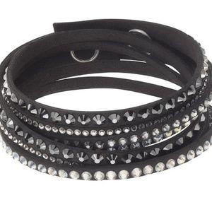 Swarovski Alcantara and Crystal Bracelet/Choker
