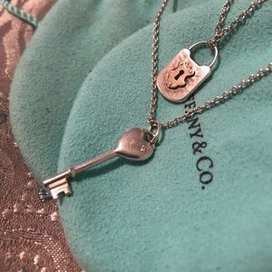 Tiffany and Co lock and key necklaces