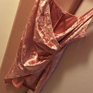 Blush pink body con dress
