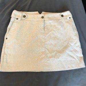 Beige Express Mini Skirt