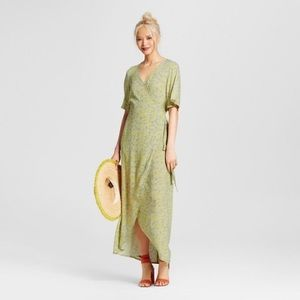 Who What Wear Flutter Maxi Wrap Dress- XS