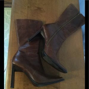 Brown leather Steve Madden boots EUC sz 9.5