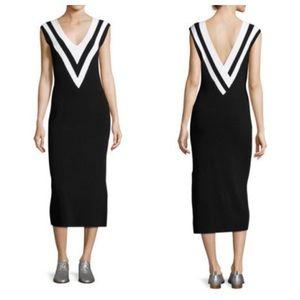Rag & Bone Daphne Black & White Sweater Dress M