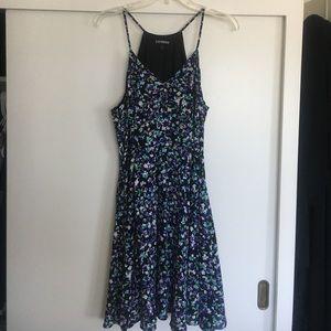Express flower print spaghetti strap dress size 12
