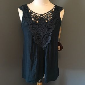 Knox Rose Teal Lace Top