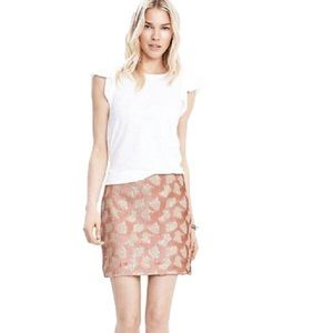 Banana Republic blush sequin skirt nwt Sz 4