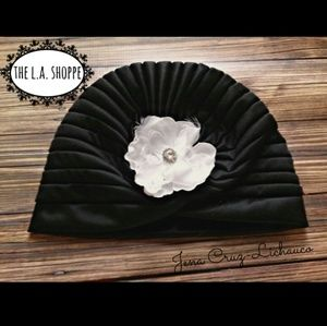 Handmade Black fashion turban