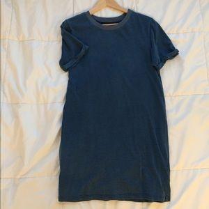 "Washed ""Denim"" tee shirt dress"