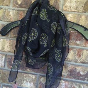 Terracotta silk scarf