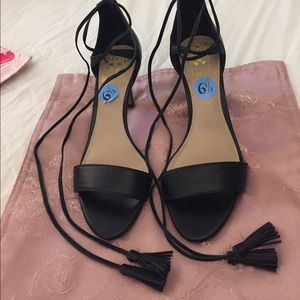 NWT Vince Camuto 6.5 open toe lace up 3 inch heel