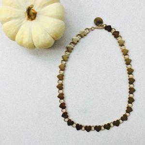 New! Vintage heart link necklace