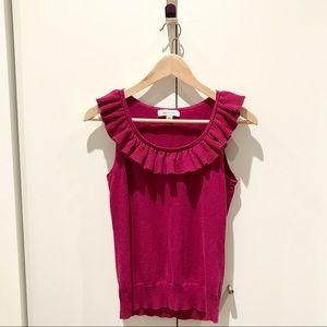 Merona Sweater Tank with Ruffle Collar, Size M