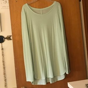 Mossimo XL Light Mint Green Long Sleeve Shirt