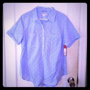 Merona polka dot pullover blouse