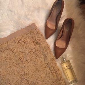Banana Republic metallic gold mini skirt
