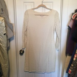 Cream BR dress.