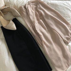 H & M blush v neck blouse