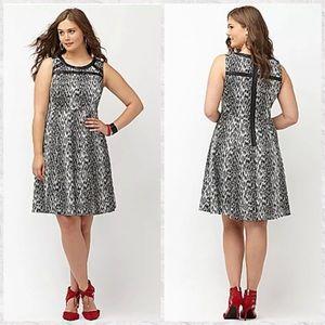 Lane Bryant Sleeveless Leopard Print A-Line Dress