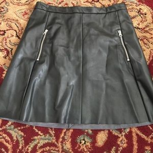 Leather look skirt from H&M. zips in back size 10