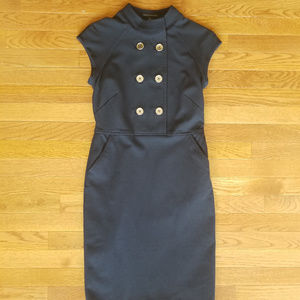 Military Style Navy Dress