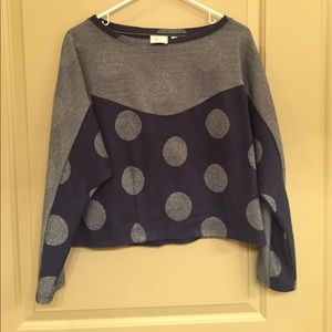 Cropped anthropology sweatshirt