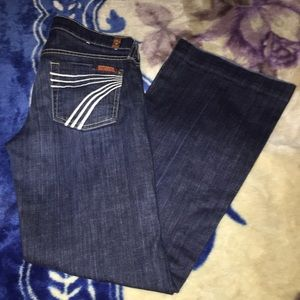 EXCELLENT SZ 26 7 for all mankind DOJO Jeans dark