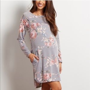 Maternity Sweater Floral Dress