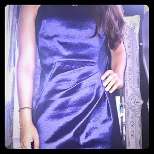 Calvin Klein chic blue metallic dress