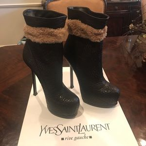 YSL chocolate brown boot- authentic!