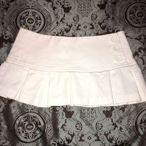 White micro mini denim tennis skirt