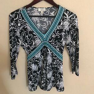 3/4 length sleeve Ann Taylor LOFT blouse