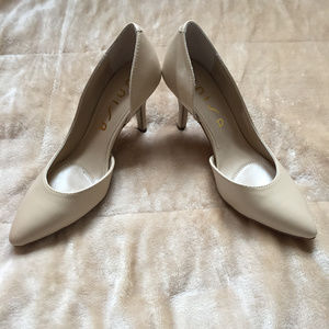 Unisa by JCPenney Nude Cutout Heels