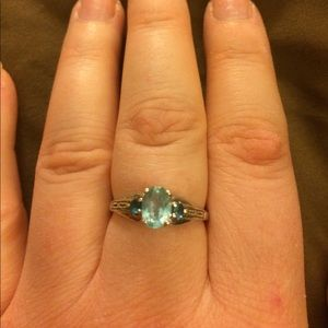Blue Apatite Sterling Silver 925 Ring