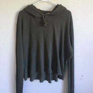 Brandy Melville Olive Green Lennon Thermal hoodie