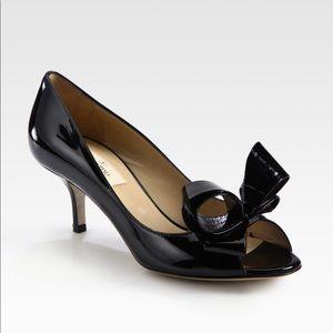 Valentino peep toe bow pump 100%Authentic size 41