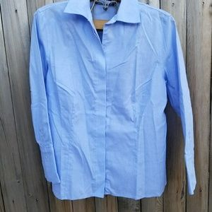 Jones New York Blue Easy Care Button Down