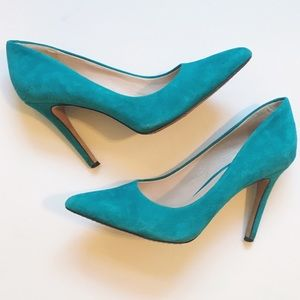 Blue Suede Vince Camuto Pumps Heels
