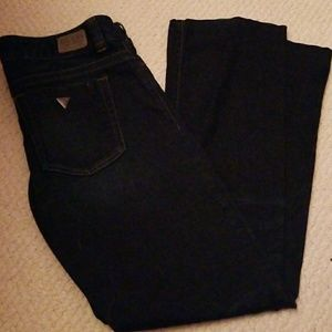 Guess jeans dark wash boot cut size 31