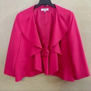 NWOT Size 22W Kasper Pink Ruffle Blazer