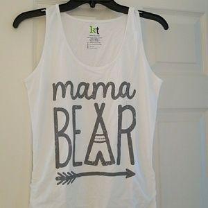 Tops - Mama bear maternity tank
