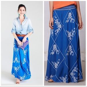 Ping Embroidered Maxi Skirt - Worn ONCE!