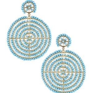 Lisi Lerch Turquoise Disc Earrings