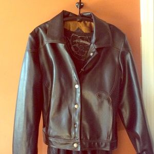 Faux leather jacket!