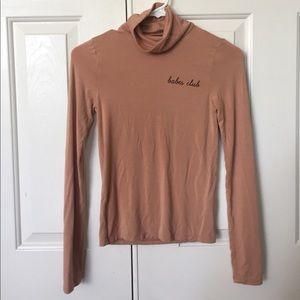 Long sleeve beige top