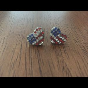 🇱🇷 Flag Heart Earrings