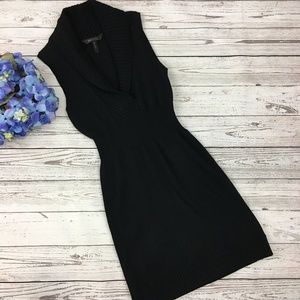 BCBG MaxAzria Black Sleeveless Sweater Dress